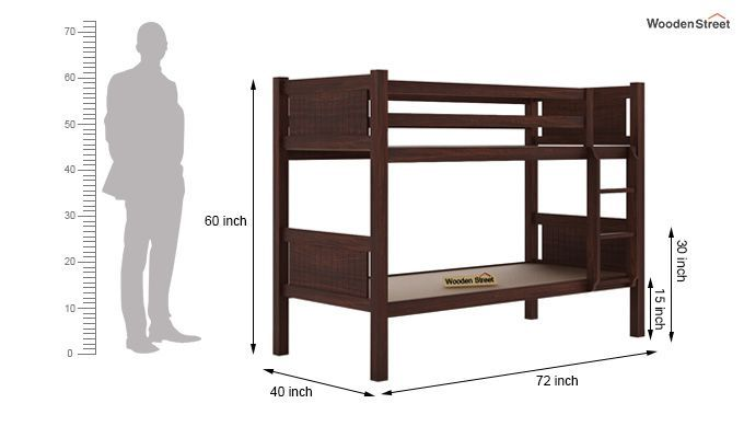 Paddy Bunk Bed (Walnut Finish)-6
