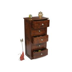Bavuma Chest Of Five Drawers (Teak Finish)