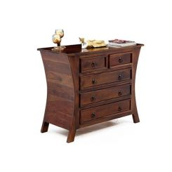 Elliot Five Drawers Chest (Teak Finish)