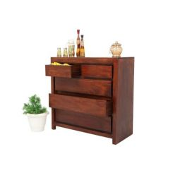 Rudolph Chest Of 5 Drawers (Teak Finish)