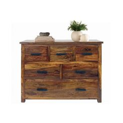 Linon Chest Of Six Drawers (Teak Finish)