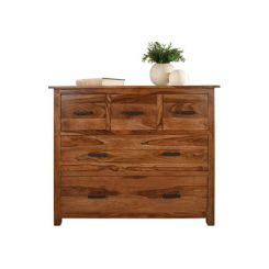 Villow Chest Of 5 Drawers (Teak Finish)