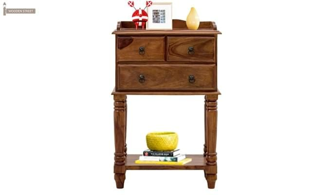 Alston Bedside Table (Teak Finish)-1