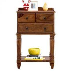 Alston Bedside Table (Teak Finish)