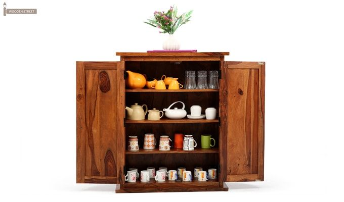 Apex Kitchen Cabinet (Teak Finish)-1
