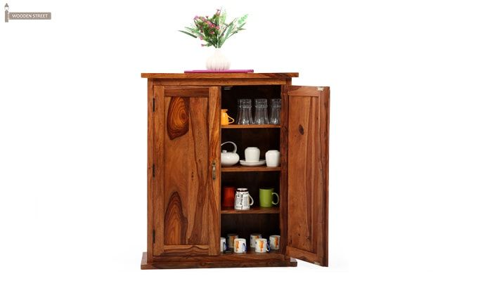 Apex Kitchen Cabinet (Teak Finish)-2
