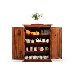 Apex Kitchen Cabinet (Teak Finish)