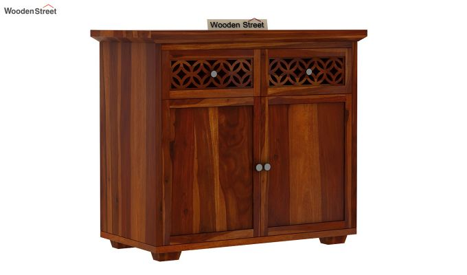 Cambrey Mini Sideboard (Honey Finish)-2