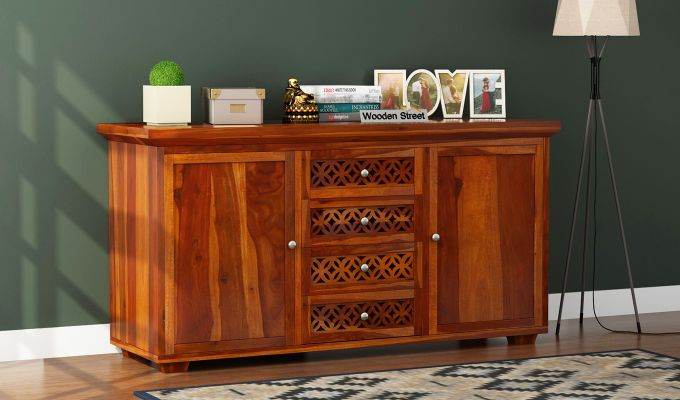Cambrey Sideboard (Honey Finish)-1