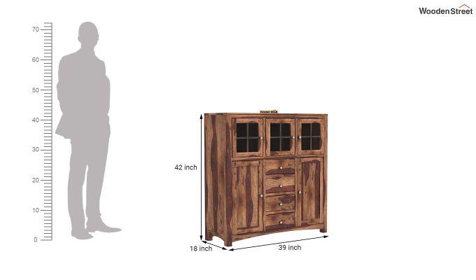 Carrock Cabinet (Teak Finish)-5