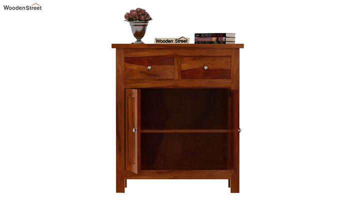 Clovis Cabinet With Drawers (Honey Finish)-3