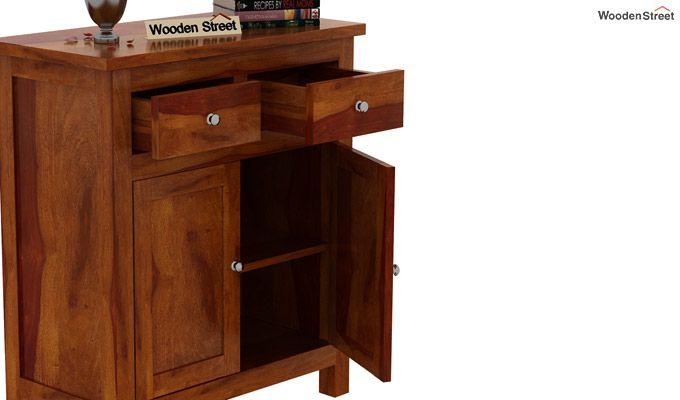Clovis Cabinet With Drawers (Honey Finish)-5