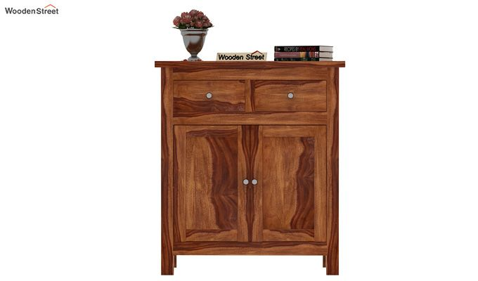 Clovis Cabinet With Drawers (Teak Finish)-2