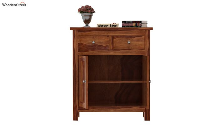 Clovis Cabinet With Drawers (Teak Finish)-3