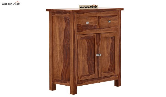 Clovis Cabinet With Drawers (Teak Finish)-4