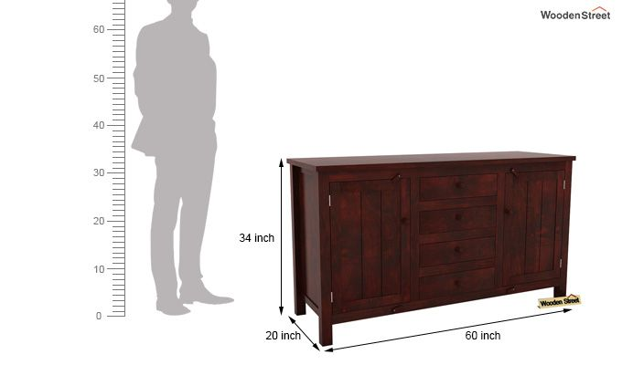 Dewey Sideboard (Mahogany Finish)-6