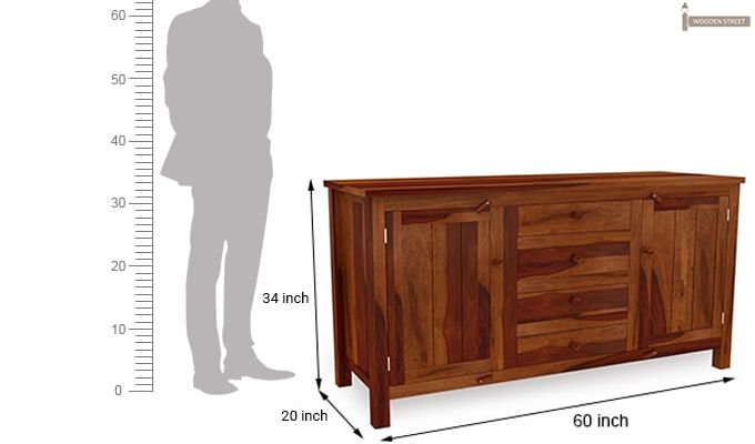 Dewey Sideboard (Honey Finish)-7
