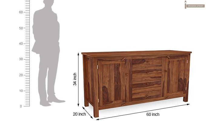 Dewey Sideboard (Teak Finish)-8