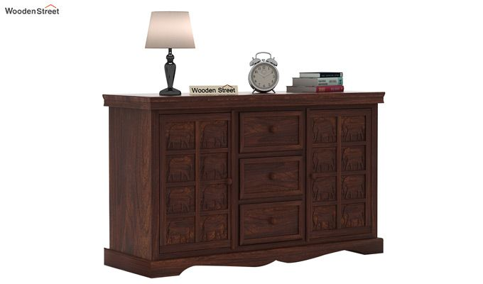 Emboss Sideboard (Walnut Finish)-2