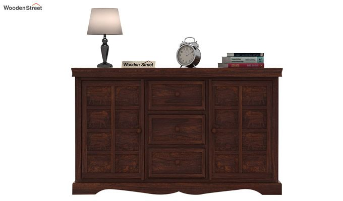 Emboss Sideboard (Walnut Finish)-3