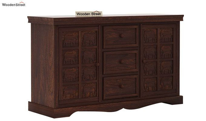 Emboss Sideboard (Walnut Finish)-4
