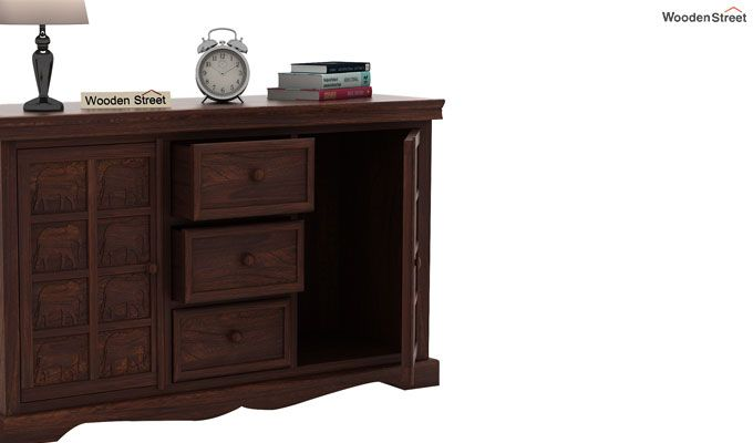Emboss Sideboard (Walnut Finish)-5