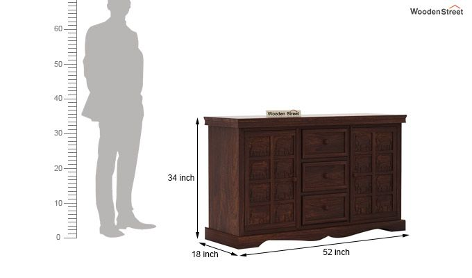 Emboss Sideboard (Walnut Finish)-6