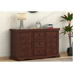 Emboss Sideboard (Walnut Finish)