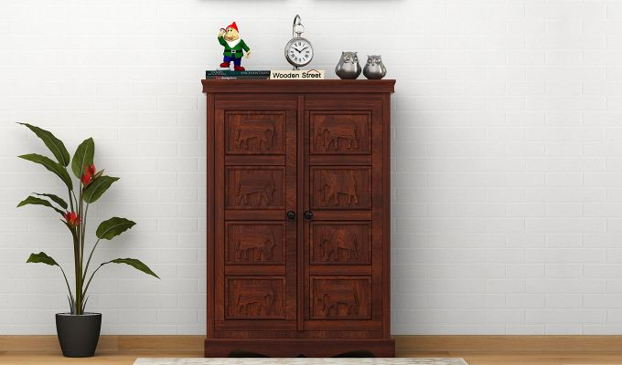 Emboss Small Sideboard (Walnut Finish)-1