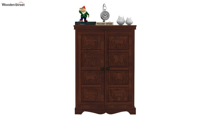 Emboss Small Sideboard (Walnut Finish)-3