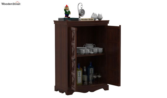 Emboss Small Sideboard (Walnut Finish)-4