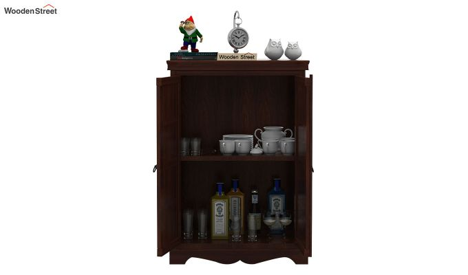 Emboss Small Sideboard (Walnut Finish)-5