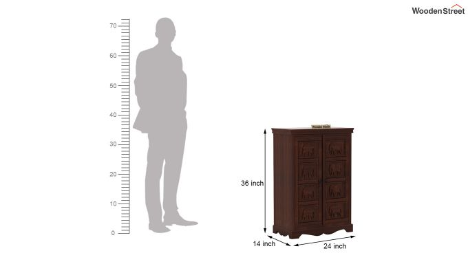 Emboss Small Sideboard (Walnut Finish)-7