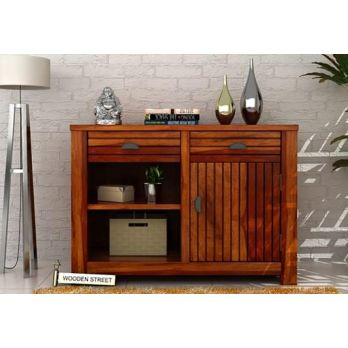 Felner Mahogany Finish Wooden Cabinets Online India