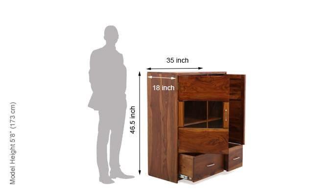 Hodor Cupboard (Teak Finish)-13
