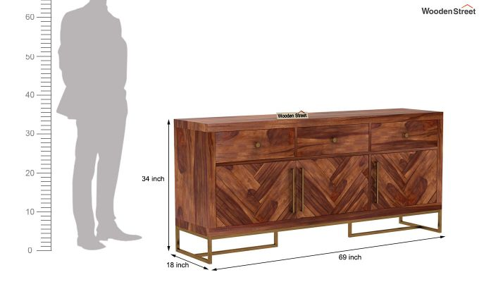 Jett Sideboard (Teak Finish)-7