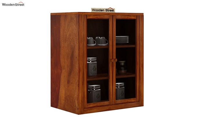 Leven Kitchen Cabinet (Honey Finish)-1