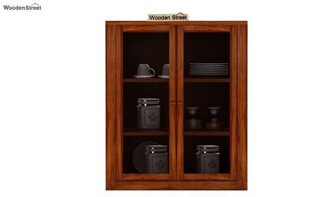 Leven Kitchen Cabinet (Honey Finish)-2
