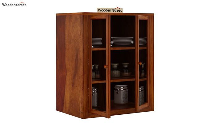 Leven Kitchen Cabinet (Honey Finish)-3