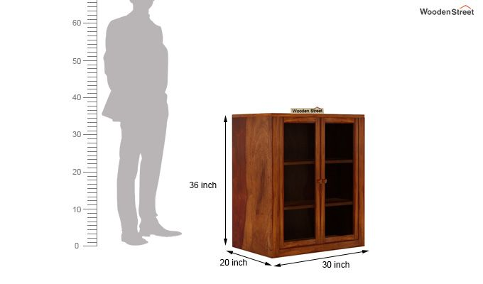 Leven Kitchen Cabinet (Honey Finish)-5