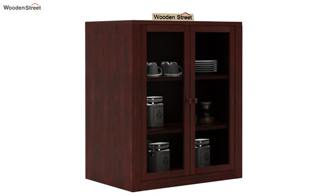 Leven Kitchen Cabinet (Mahogany Finish)-1