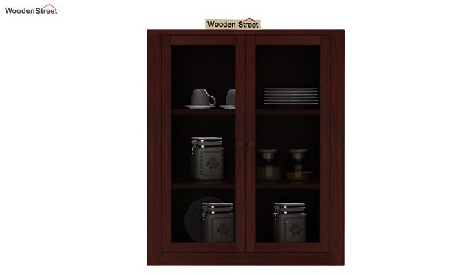 Leven Kitchen Cabinet (Mahogany Finish)-2