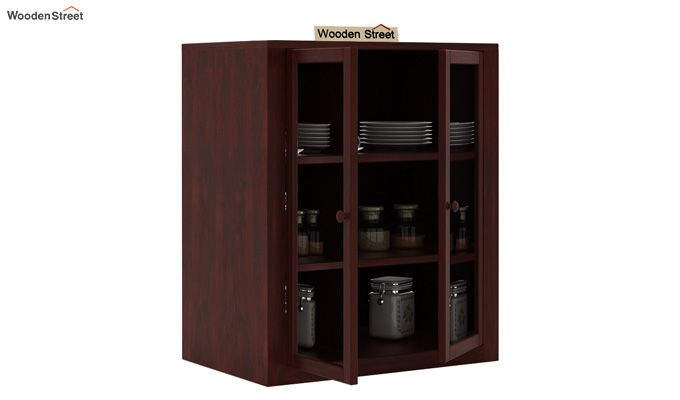 Leven Kitchen Cabinet (Mahogany Finish)-3