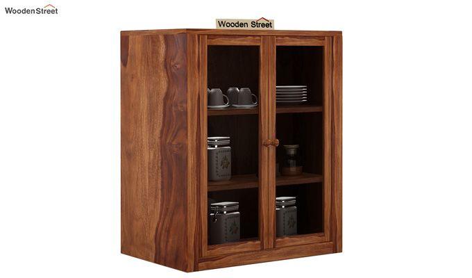 Leven Kitchen Cabinet (Teak Finish)-1