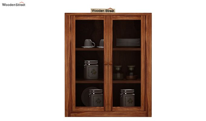 Leven Kitchen Cabinet (Teak Finish)-2
