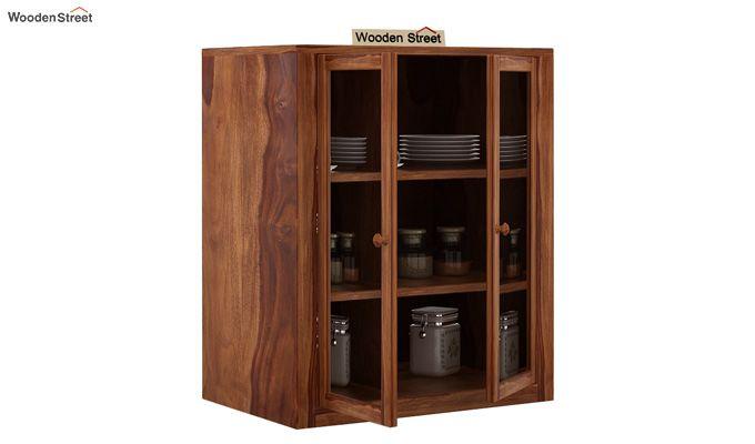 Leven Kitchen Cabinet (Teak Finish)-3