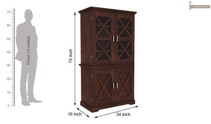 Loren Kitchen Cabinets (Walnut Finish)-9