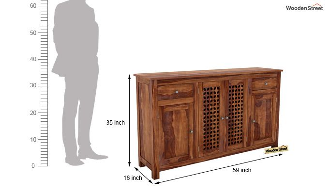 Mendes Sideboard (Teak Finish)-5
