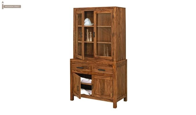 Prisma Kitchen Cabinet (Teak Finish)-1