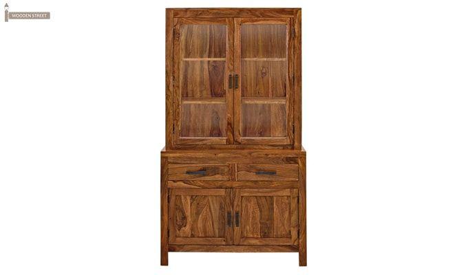 Prisma Kitchen Cabinet (Teak Finish)-3